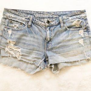 American Eagle Cut Off Distressed Jean Shorts
